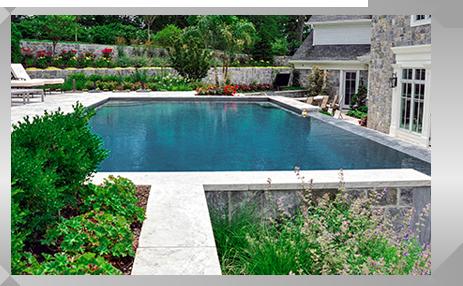 Custom inground residential pool
