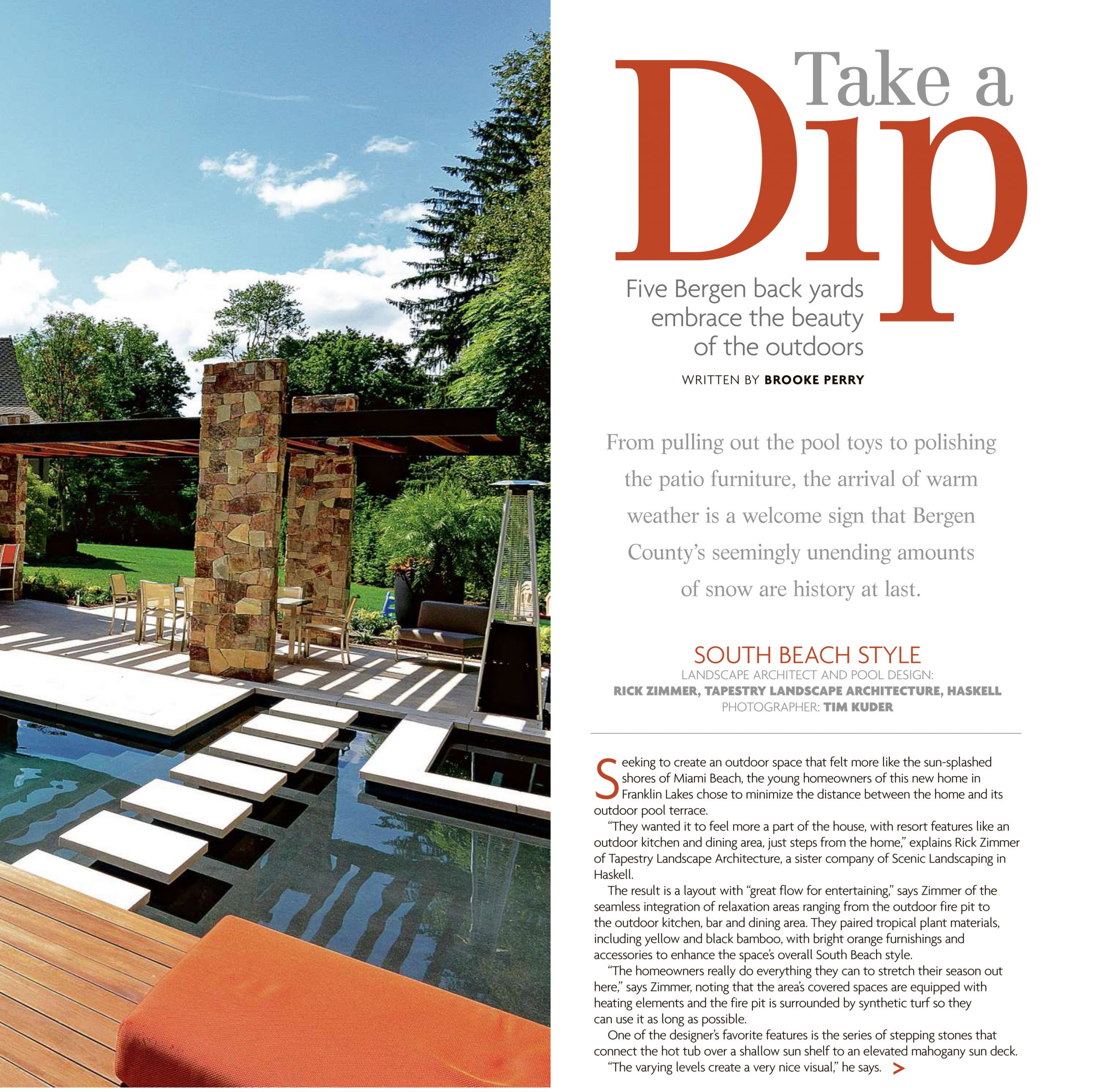 Pool Architecture Feature NJ Article