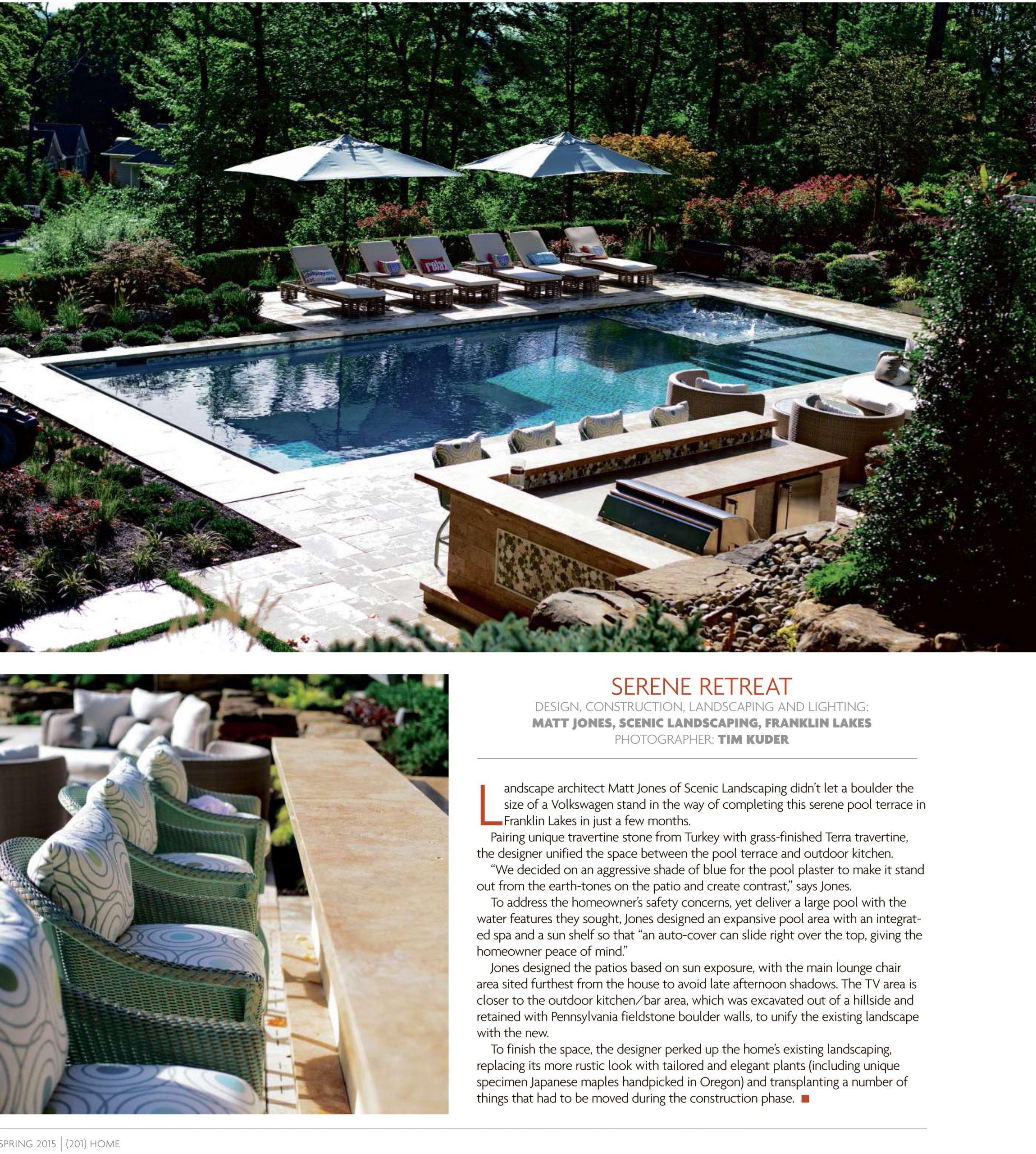 Pool Architecture Tapestry Landscape NJ