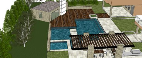 Landscape project design rendering