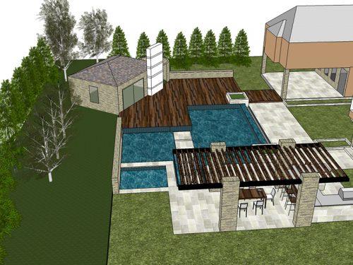 Landscape project design rendering