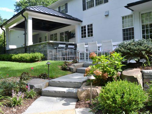 backyard remodel custom steps