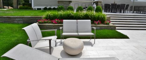 Modern landscape architecture and patio design