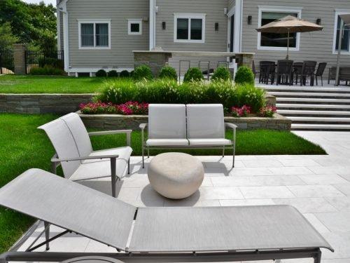Modern landscape architecture and patio design