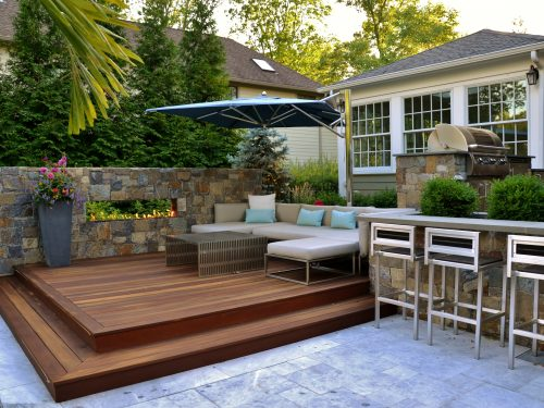 ideal outdoor living space