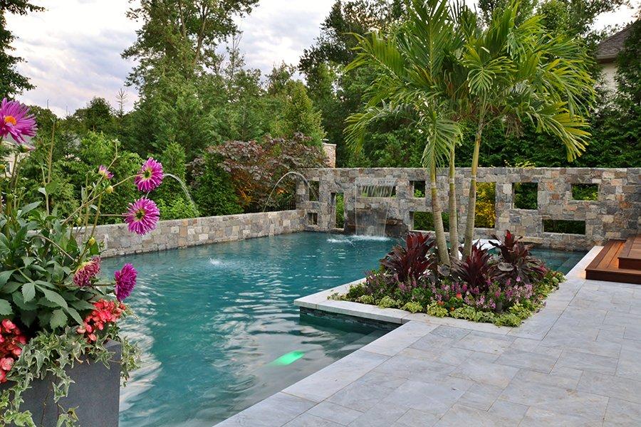 Custom pool landscape design