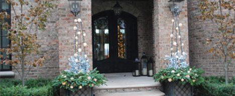 Custom entryway planters