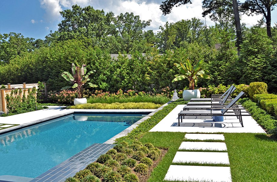 Custom pool landscape and patio design